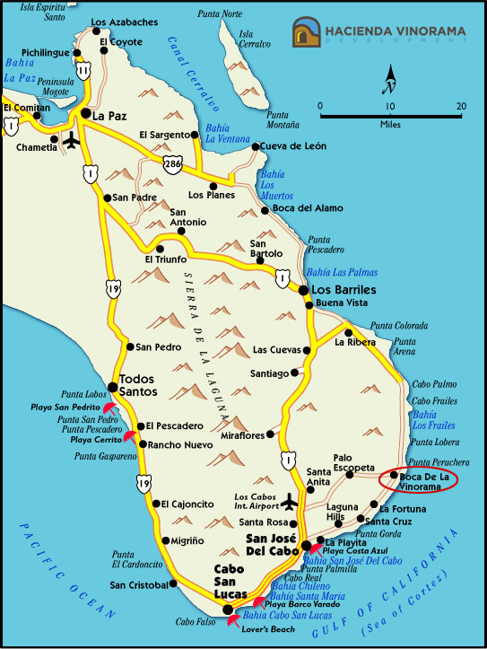 Maps of Cabo Cabo San Lucas Vacation Rentals Hacienda Vinorama